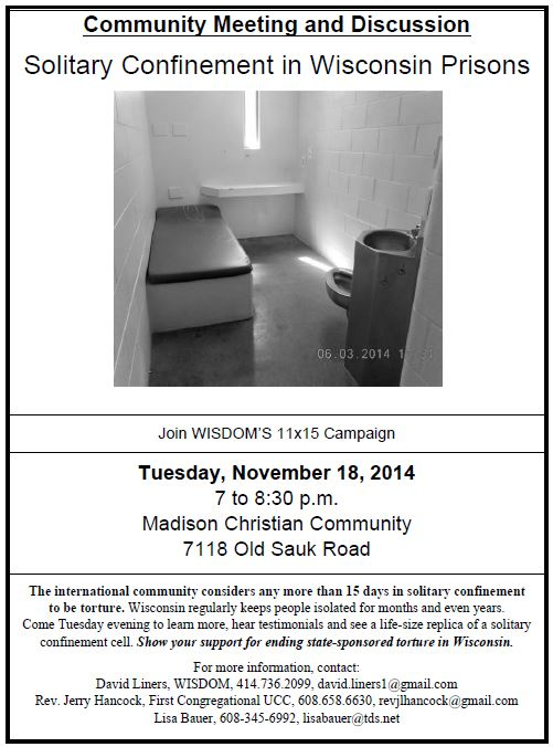 solitary confinement flyer
